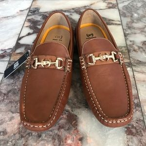 New Men's Phat Farm Tan Loafers Size 10.5